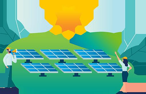 Instalação das fazendas solares
