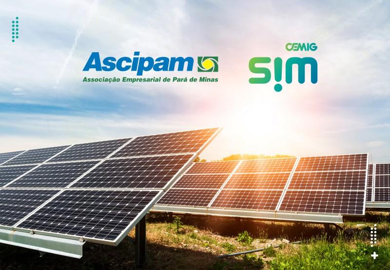 Energia solar por assinatura - Parceria Cemig SIM Ascipam