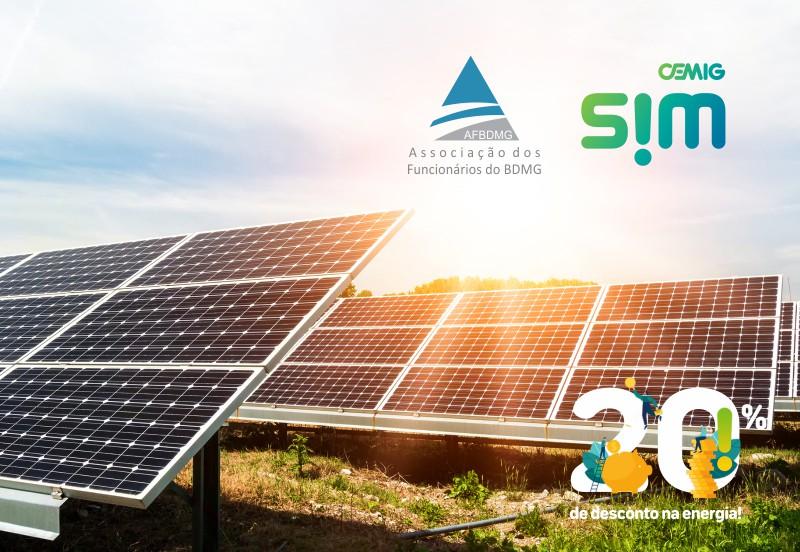 Energia solar por assinatura - Parceria Cemig SIM AFBDMG