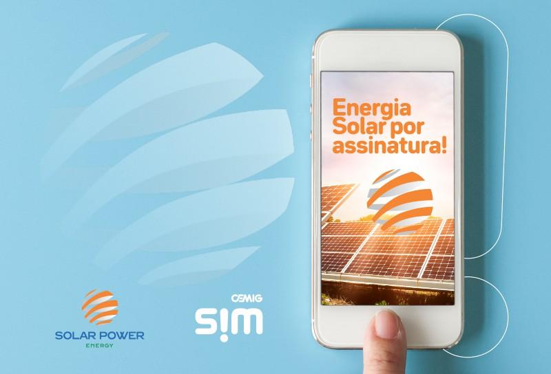 Energia solar por assinatura - Parceria Cemig SIM Solar Power Energy